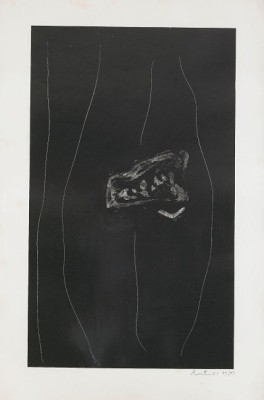 Soot Black Stone # 2 by Robert MOTHERWELL