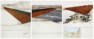 Ten Million Oil Drums Wall - Project For The Suez Canal. The Complete Suite Of Three Colour Silkscreens by Christo JAVACHEFF