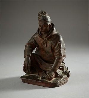 Sittande Same by Christian ERIKSSON