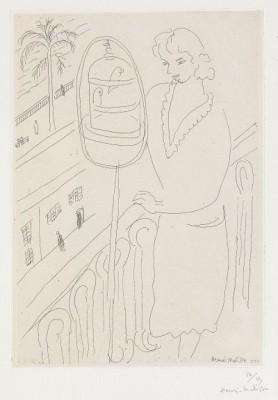 Jeune Femme Au Balcon, Observant Des Perruches by Henri MATISSE