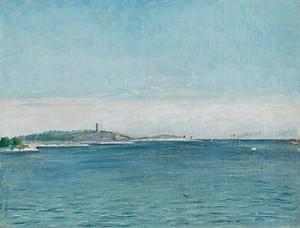 Landskap Från Sandhamn Med Korsö Fyr, 1873. by August STRINDBERG