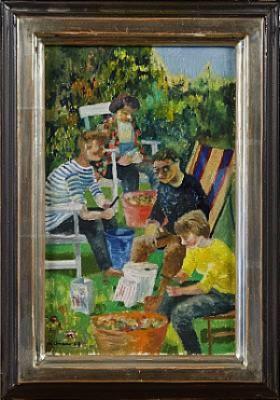 Trädgårdsmotiv I by Harry WICHMANN