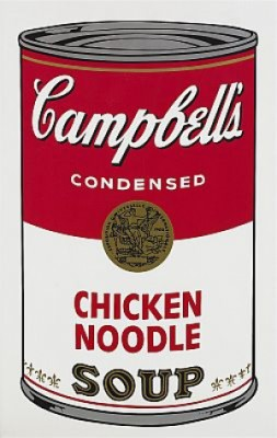 Campbell's Soup I: Chicken Noodle by Andy WARHOL