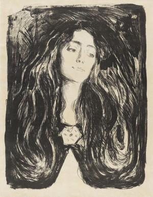 The Brooch. Eva Mudocci by Edvard MUNCH