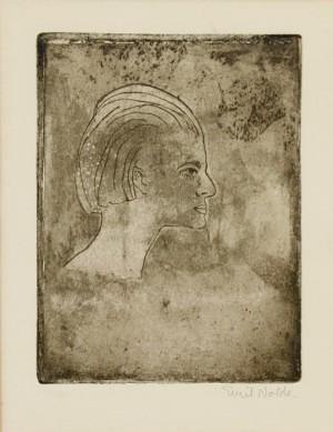 Frauenprofil by Emil NOLDE