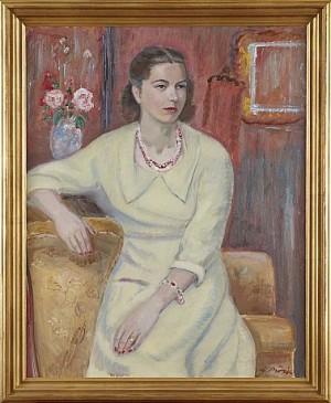 Kvinna Med Halsband by Gideon BÖRJE