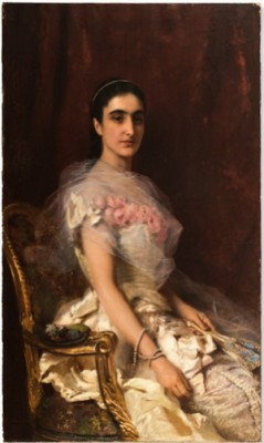 Painting, Portrait Of A Seated Lady by Konstantin Egorovich MAKOVSKY