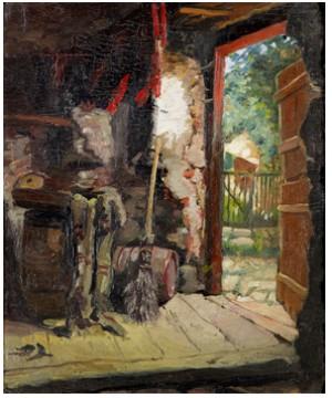 Interiör Av Ett Uthus, Visby by Ernst JOSEPHSON