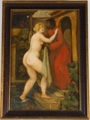 Susanna I Badet. by Hugo GEHLIN