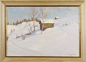 Vinterlandskap Med Härbre by Anders 'Ante' KARLSSON-STIG