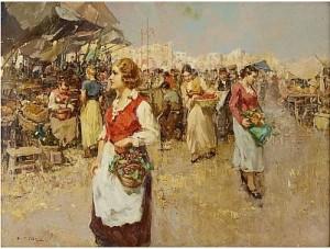 Grönsaksmarknad by Guiseppe PITTO