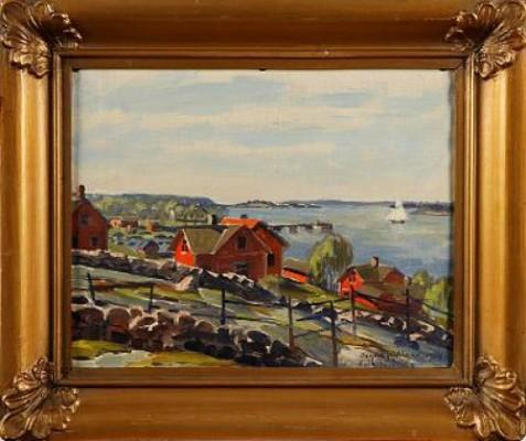 Motiv Från Degerby åland by Erik JUSELIUS