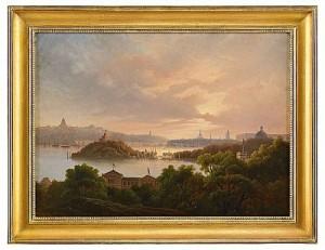 Utsikt över Stockholm Från Djurgården by Herman MÜLLER