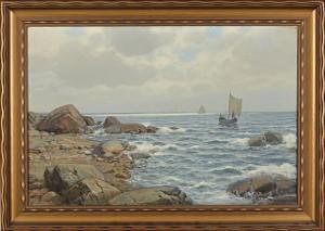 Kustmotiv by Thorvald RYGAARD