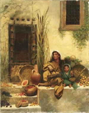 The Fruit Sellers by Margaret Murray COOKESLEY