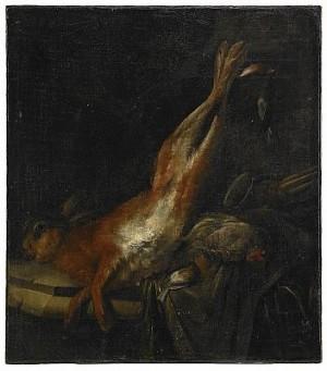 Stilleben Med Hare Och Kramsfåglar by Willem Van AELST