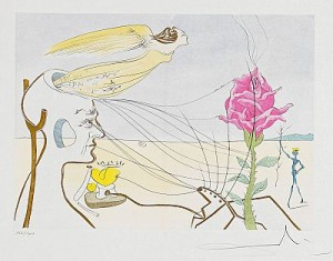 La Rose (dream by Salvador DALI