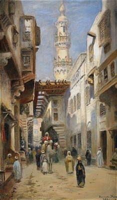 Bazargata, Kairo by Frans Wilhelm ODELMARK