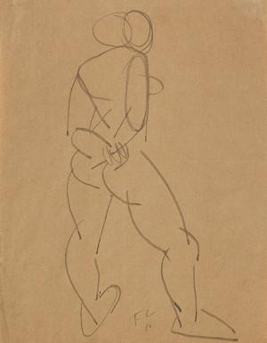 Stehender Weiblicher Akt Von Hinten by Fernand LEGÉR