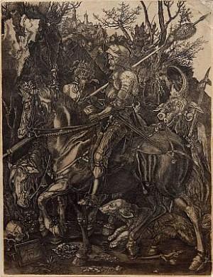 Knight, Death And Devil, Sannolikt Utförd Av Johann Wierx, Spår Av Vattenstämpel by Albrecht DÜRER