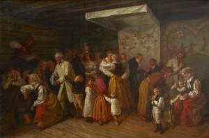 Bröllop I österåker by Josef Wilhelm WALLANDER