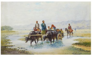 Nomads Crossing The River by Richard Karlovich ZOMMER