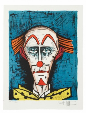 Clown Sur Fond Bleu by Bernhard BUFFET