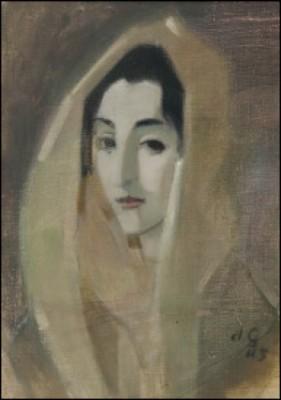 Espanjalainen Nainen by Helene SCHJERFBECK