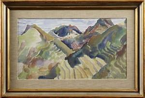 Sydländskt Bergslandskap by John STEN