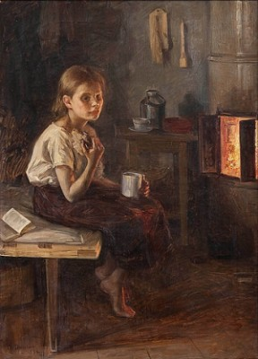 A Girl By The Oven by Elin 'E Dson' DANIELSON-GAMBOGI