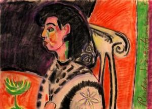 A Womans Profile by Reidar SÄRESTÖNIEMI