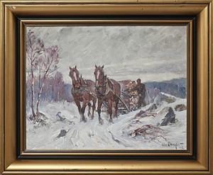Slädekipage På Vinterväg by Alexander 'Alex' LANGLET