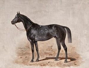 Motif With Horse by Nicolai Egorovich SVERCHKOV