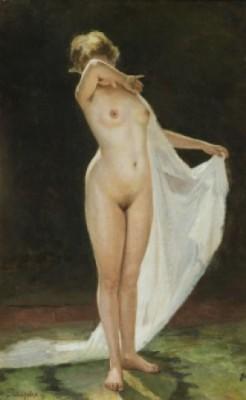 Nude Hiding Her Face by Nikolai Kornilievich BODAREVSKY