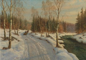 Sleigh Ride On A Sunny Winter Day by Peder MÖNSTED