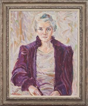 Porträtt I Halvbild Av Dam by Elena MICHÉEW