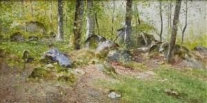 Läsande Kvinna I Vårlandskap by Wilhelm Von GEGERFELT