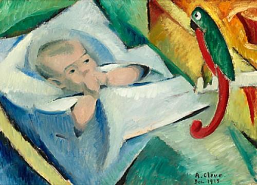 Gosse Med Papegoja by Agnes CLEVE