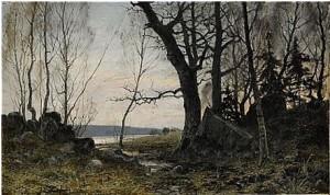 Skogsparti by Anshelm SCHULTZBERG