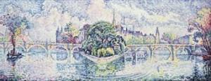 Le Jardin Du Vert-galant by Paul SIGNAC