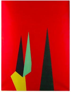 Geometrisk Komposition I Rött by Einar LYNGE-AHLBERG