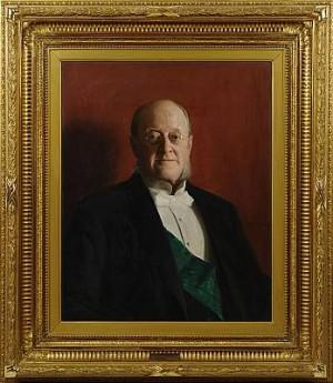 Porträtt Av Olof Wijk by Emil ÖSTERMAN