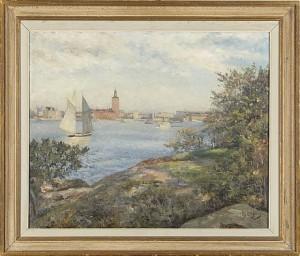 Utsikt över Riddarfjärden by Knut JANSON