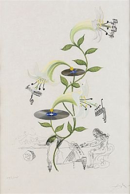 Flordali: Lys (lilium Musicum) by Salvador DALI
