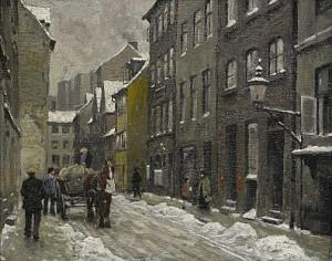 Stadsvy by Paul FISCHER