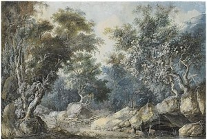 Idylliskt Skogslandskap Med Vilande Rådjur by Louis BELANGER