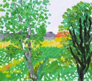 Blommande äng by Inge SCHIÖLER