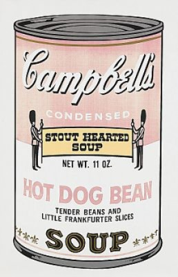 Campbell's Soup Ii: Hot Dog Bean by Andy WARHOL