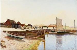 Fiskeläge by Olof KRUMLINDE