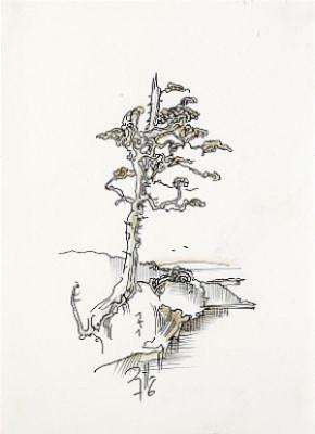 Baum by Horst JANSSEN